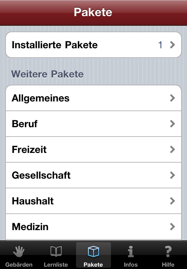 Das große Wörterbuch der Deutschen Gebärdensprache - App für's iPhone